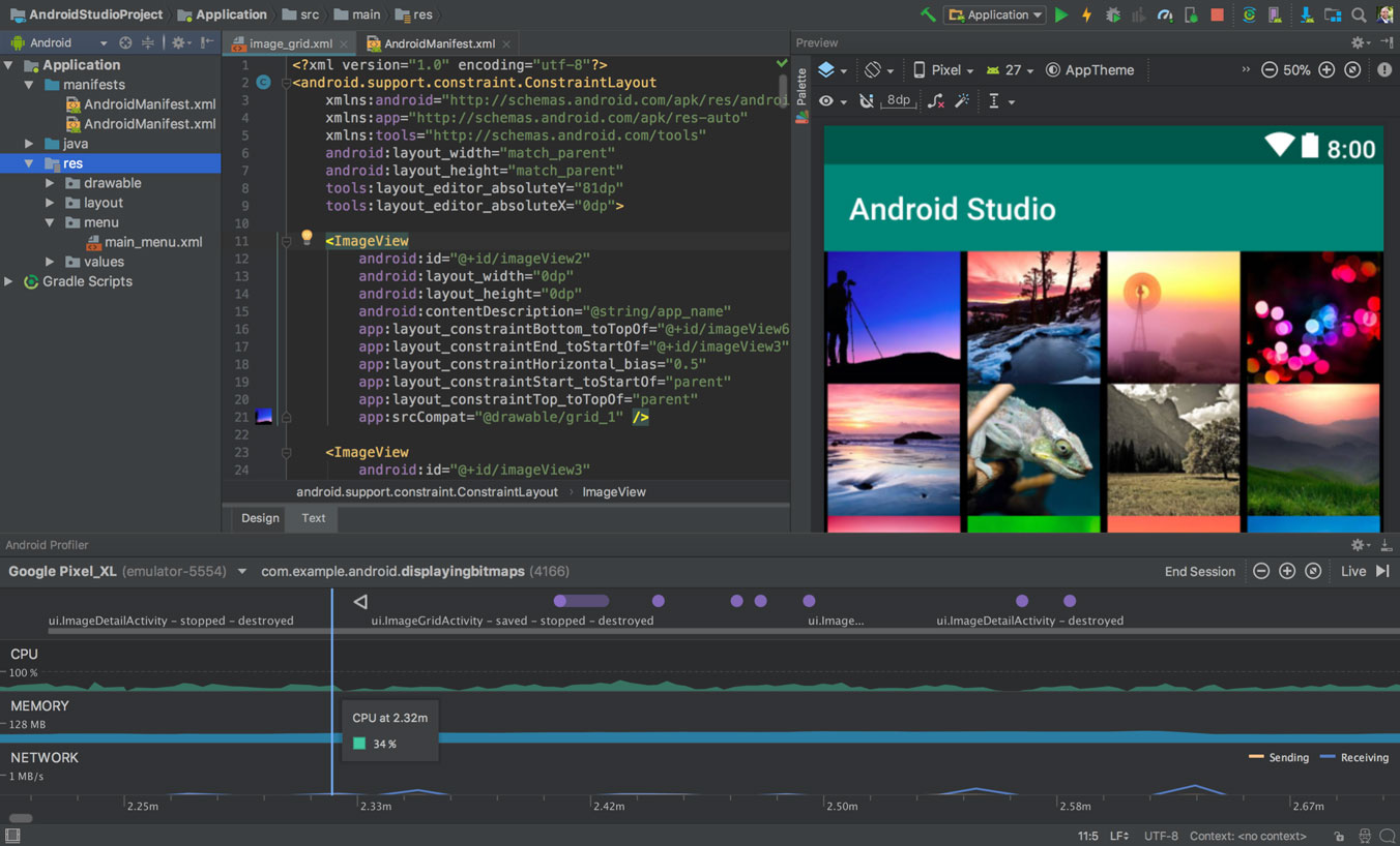 Download Android Studio and SDK tools.