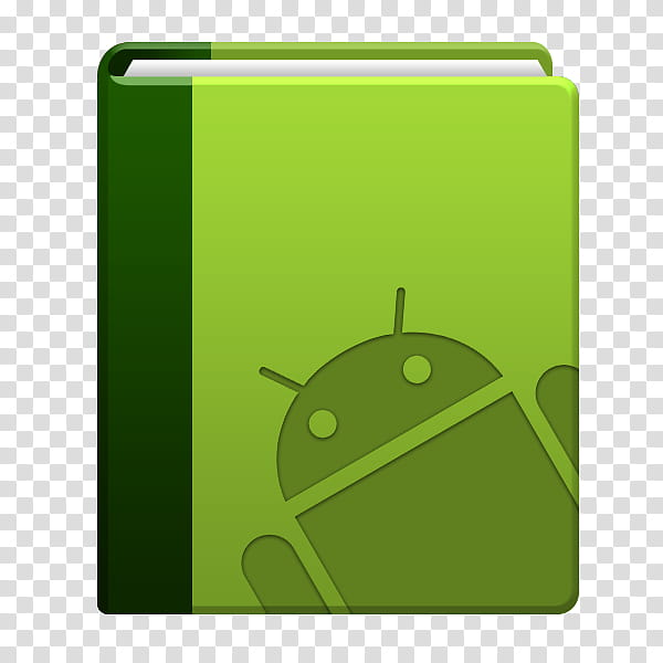 Android NoteBook App Concept, green Android folder graphic.