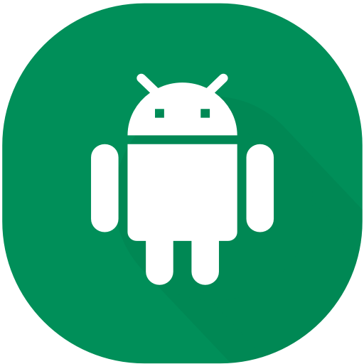 Android, app, circle, design, device, material, smartphone icon.