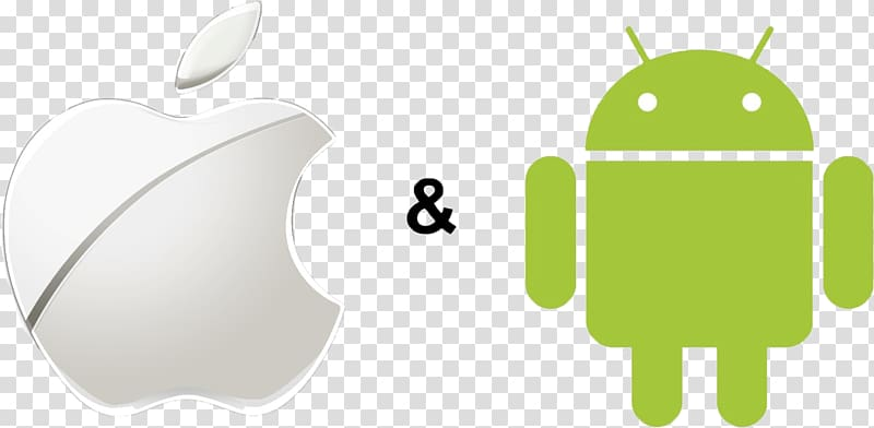 Android vs Apple iPhone, apple logo transparent background.