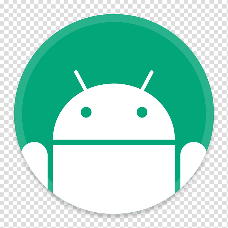 Button UI Google, Android robot icon transparent background.