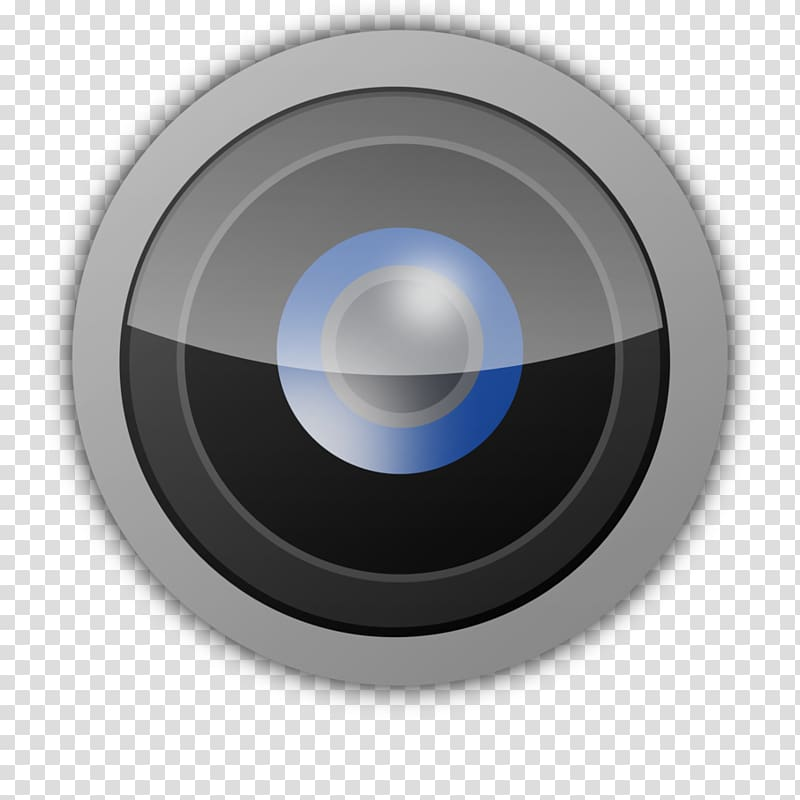 Round gray and black illustration, Camera Computer Icons.