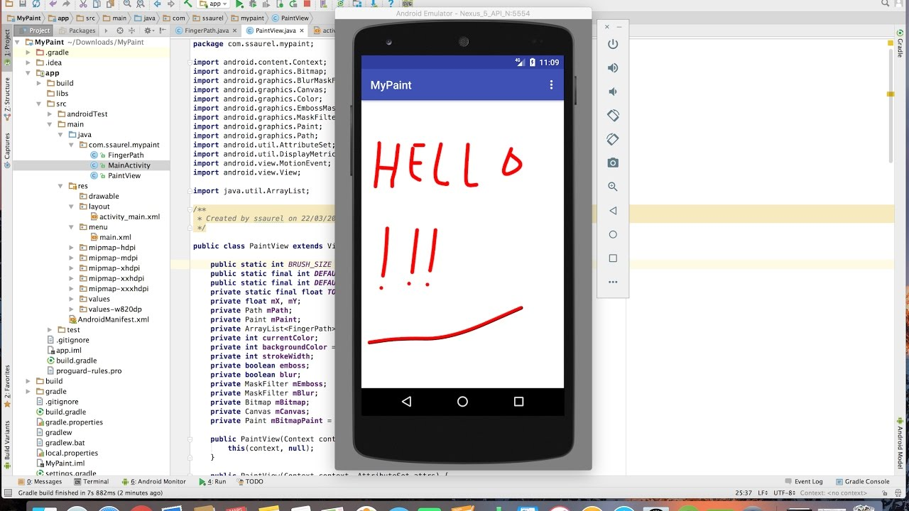 Learn to create a Paint Application for Android.