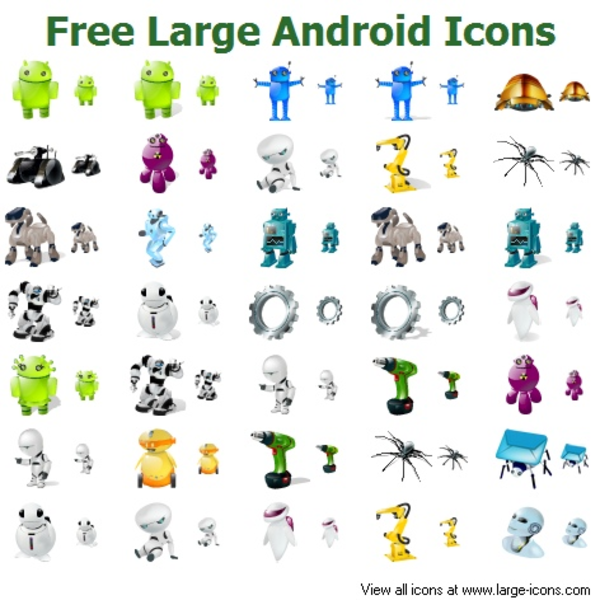 Free Large Android Icons.