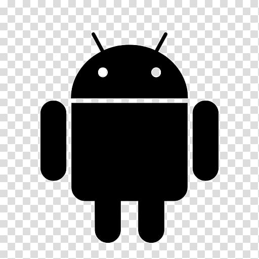 Black Android , Android Icon Logo Mobile app, Android logo.