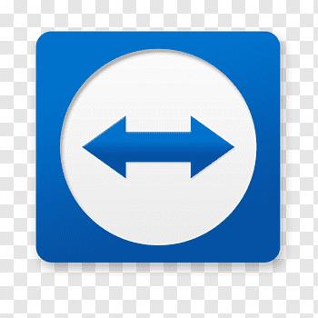 Blue arrow logo, blue area symbol point, Team Viewer free.
