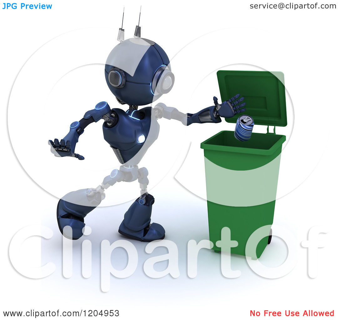 Blue android clipart.