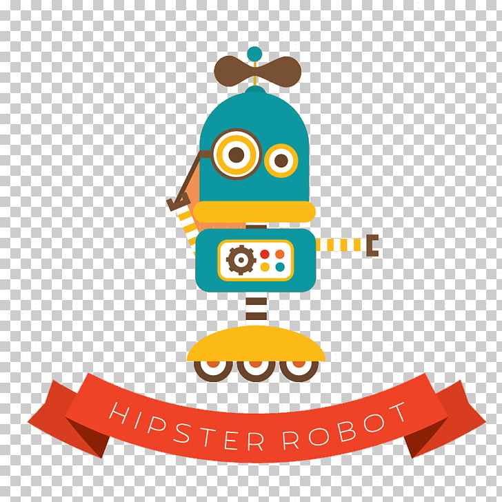 Robot Euclidean Android Icon, Robot cartoon background.