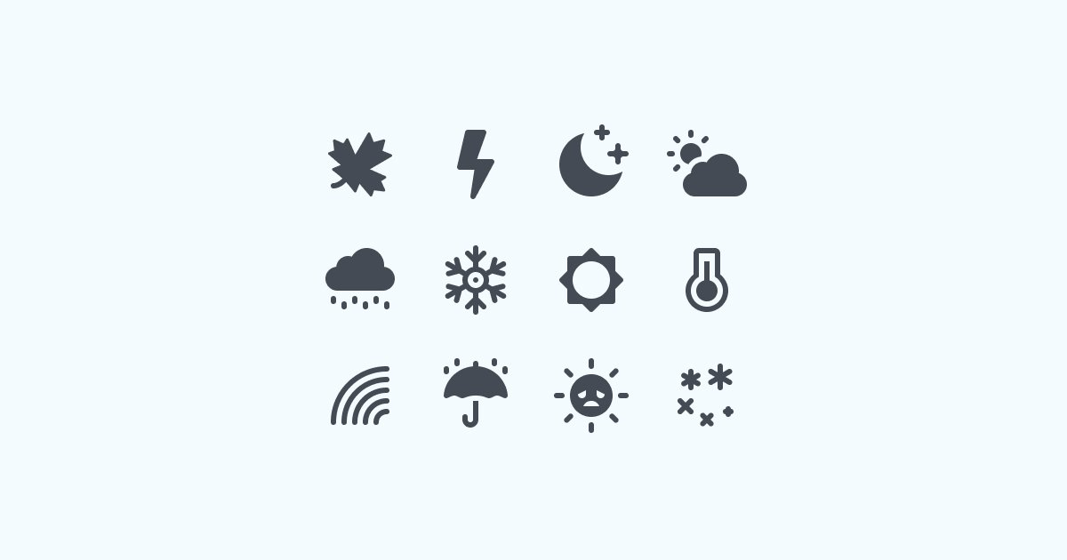 Come Rain or Shine: 20 Packs of Free Weather Clipart and Icons.