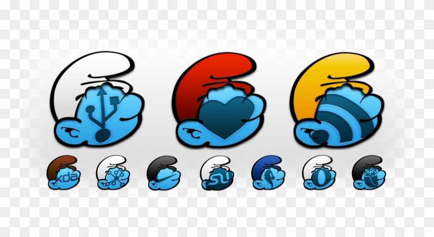 Tha Smurf Android Icon Pack Are Smurfin Hot With The Clipart.