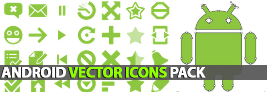 Android Vector Icons Pack (AI, EPS, SVG).