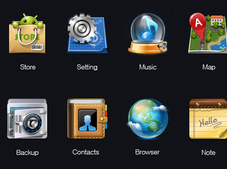 Android icons.