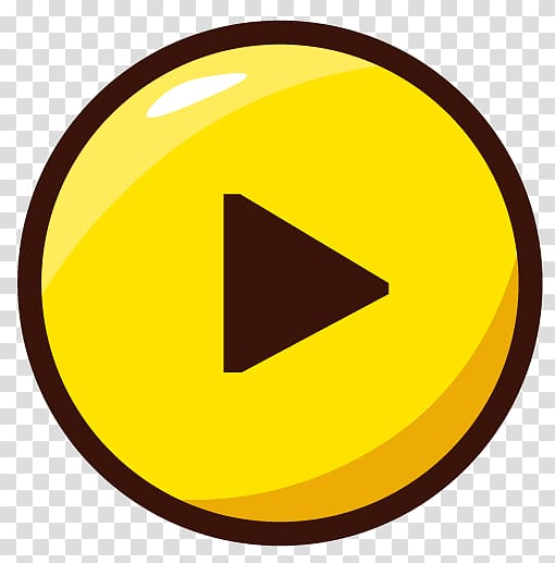 Button Android, Yellow button transparent background PNG.