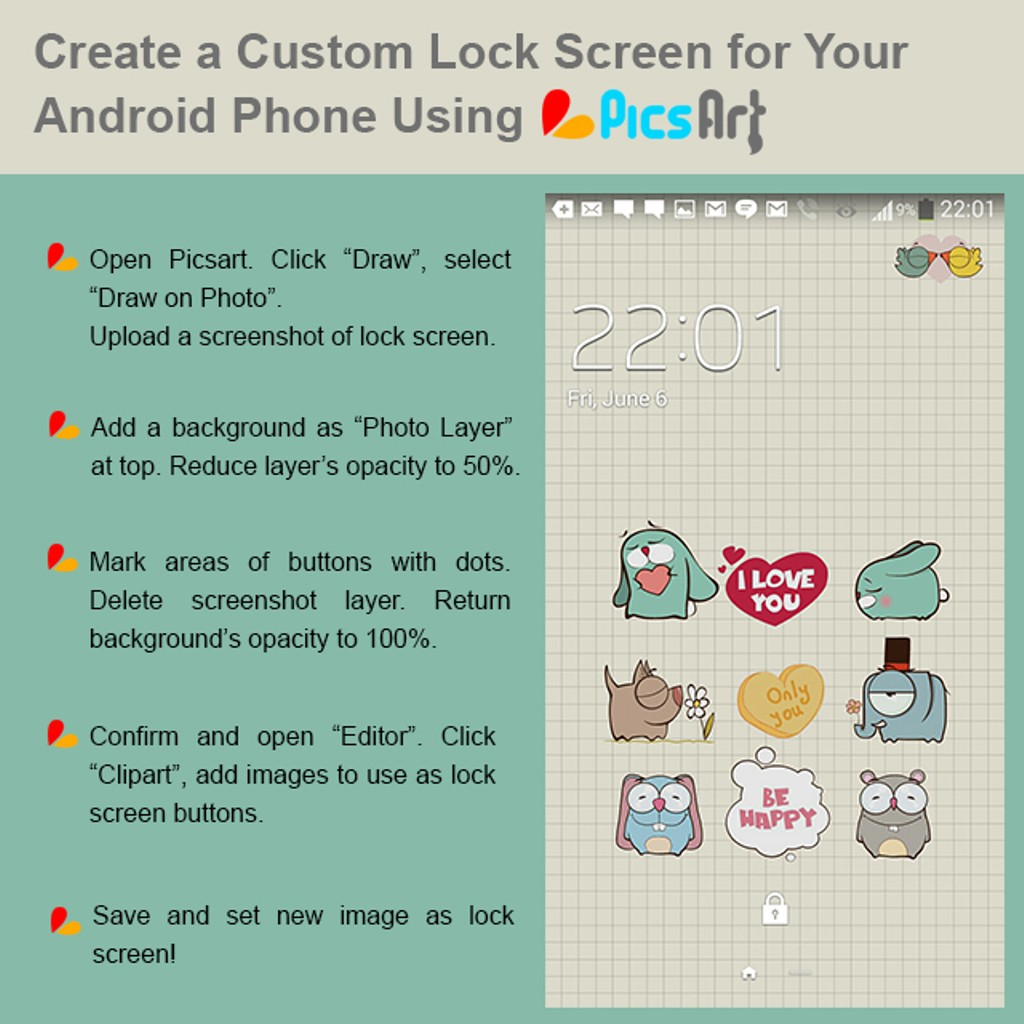 Learn How to Create Your Own Special Lock Screen for Any Phone.