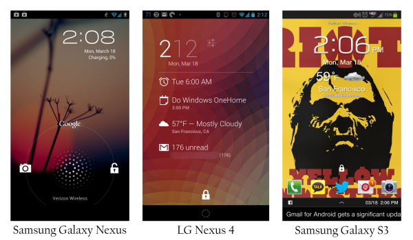 Locked screen clipart android.
