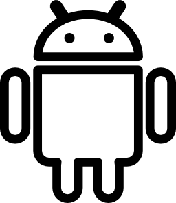 Android social outlined logo.