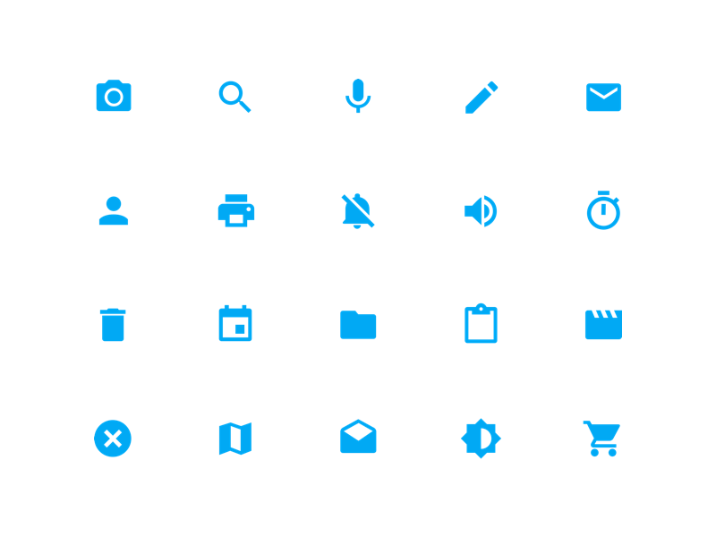System Icons.