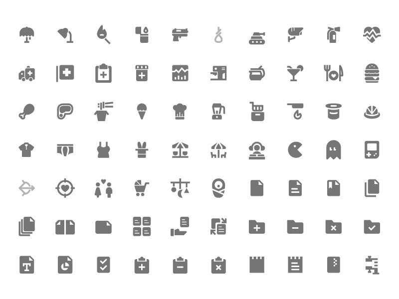 350 Free Material Design Icons Sketch freebie.