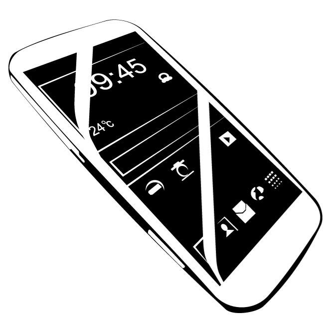 ANDROID MOBILE PHONE VECTOR.