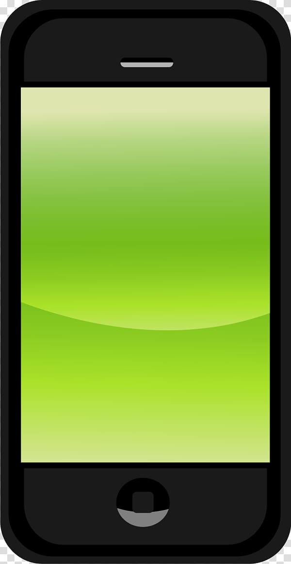 Black iPhone 3G displaying green screen, Oppo N1 Android.