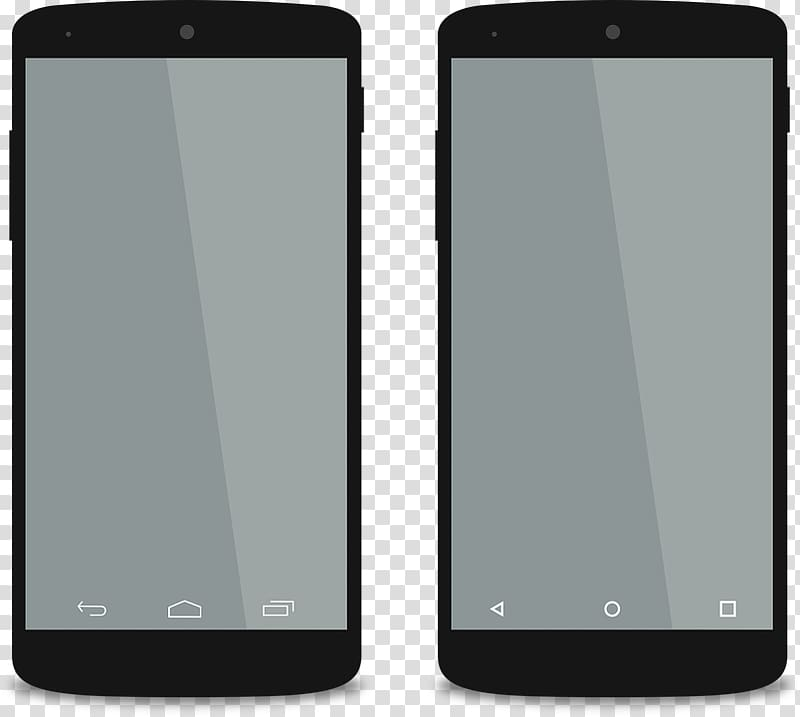 Two black Android smartphones, Android Smartphones Mockups.