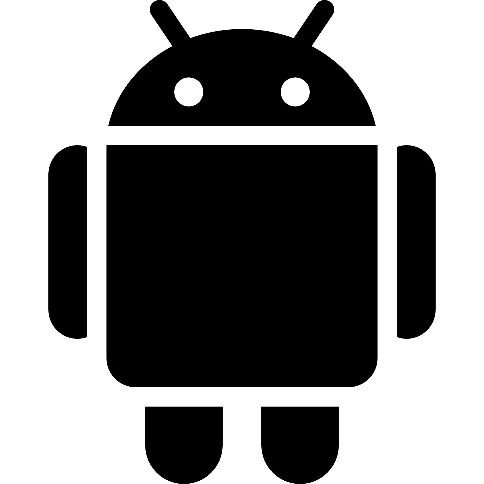 Android OS Filled Icon.