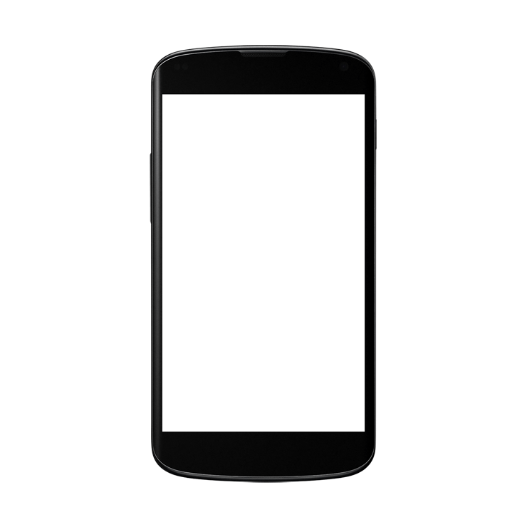 Black Android Smartphone Clipart PNG Image.