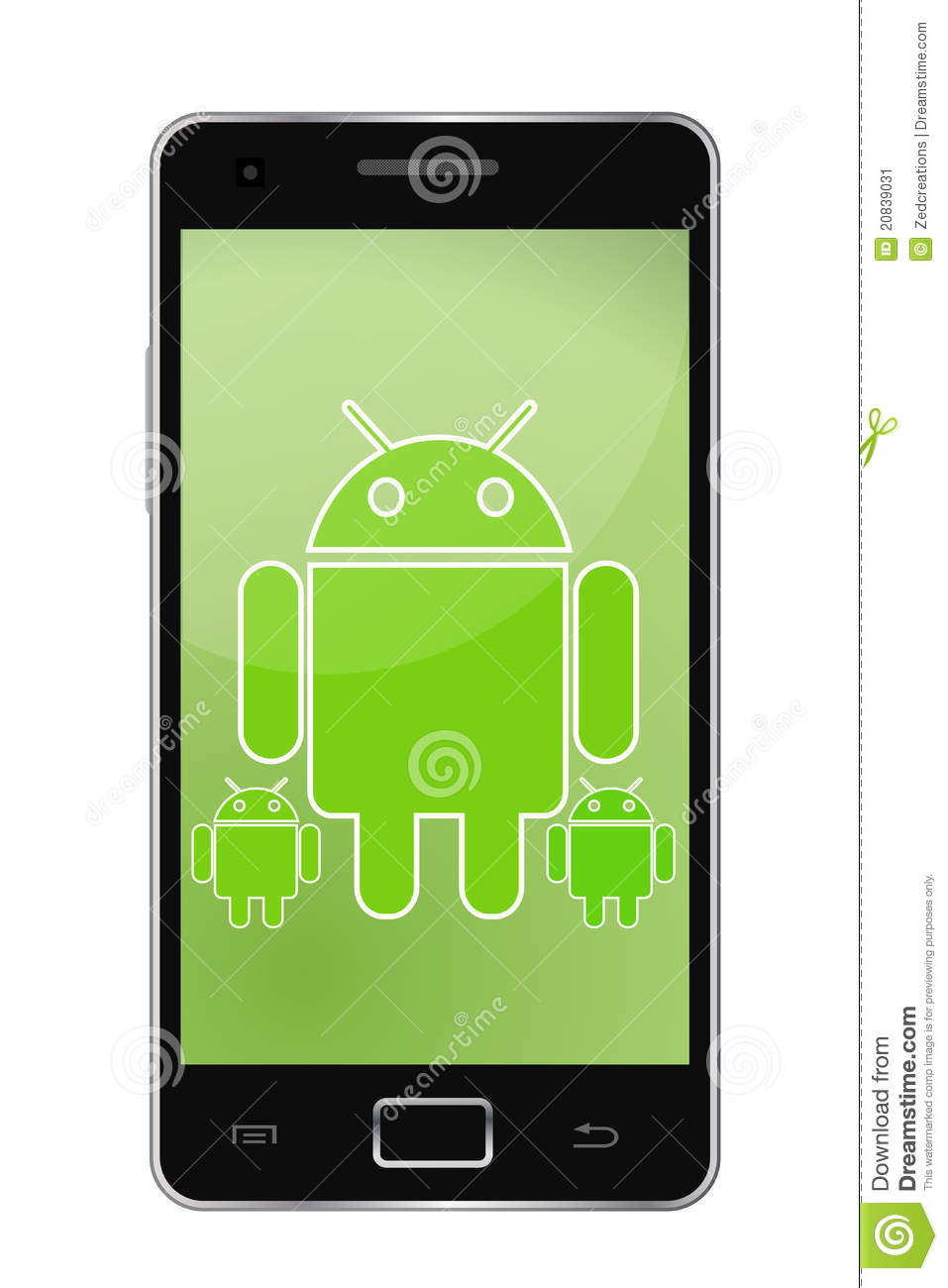 Android Mobile Phone Clipart.