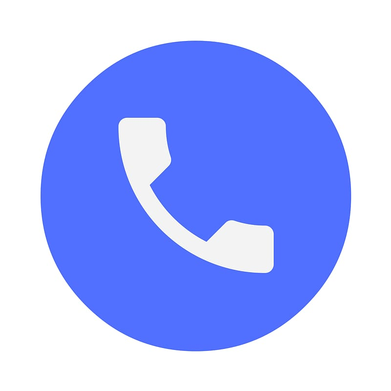Blue call icon, Dialer Android Google Play Telephone, phone.