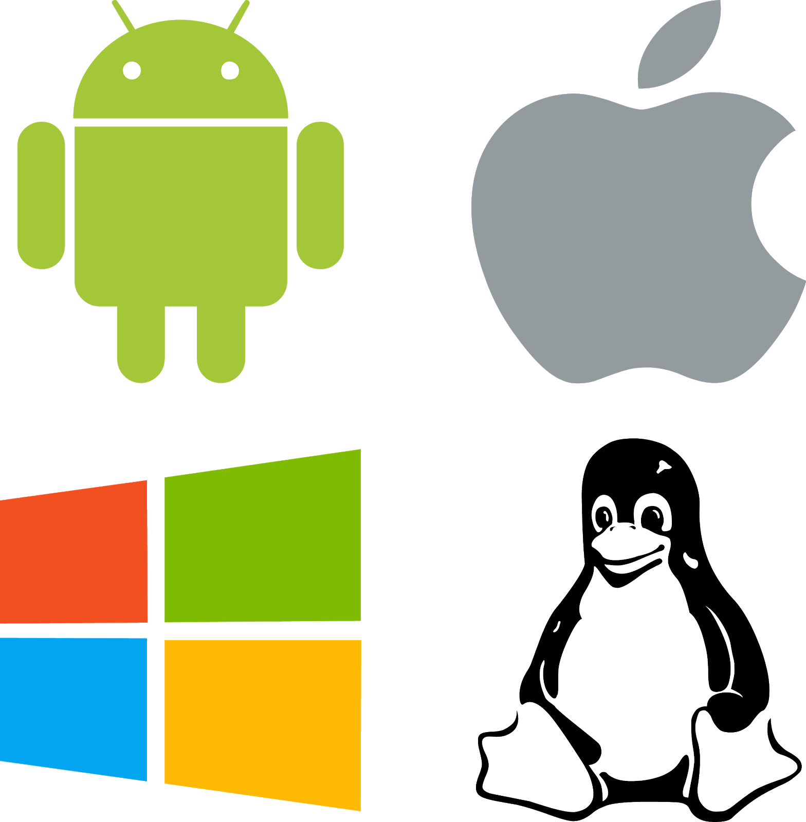 download logos windows linux android mac vector.