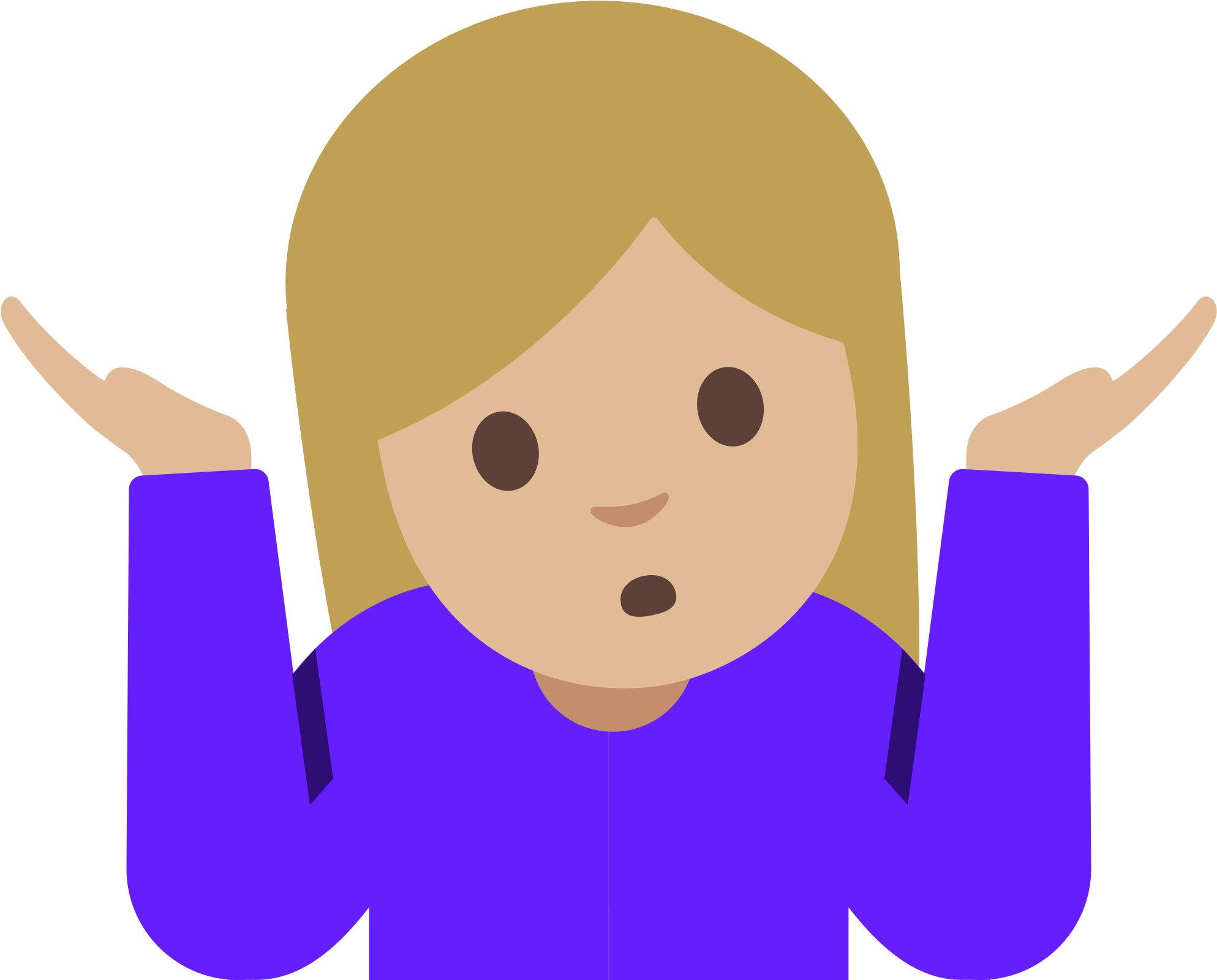 Shrug Emoji Android, HD Png Download.