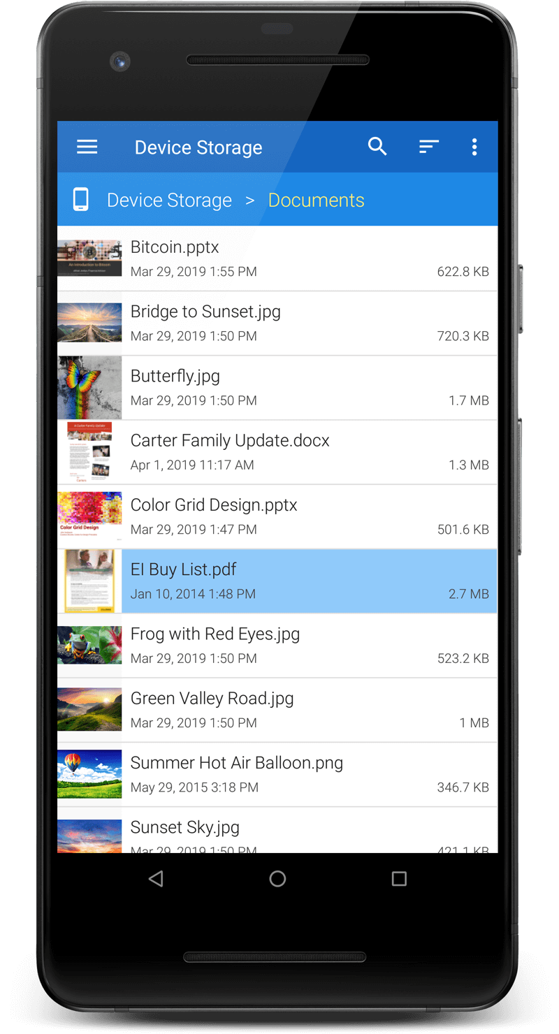 File Viewer for Android.