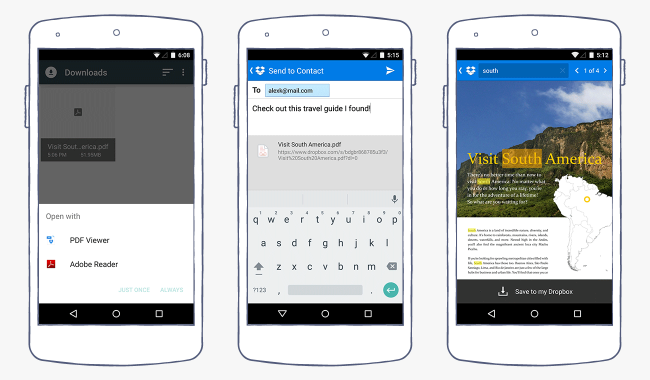 Dropbox for Android Gets a PDF Viewer and Text Search.