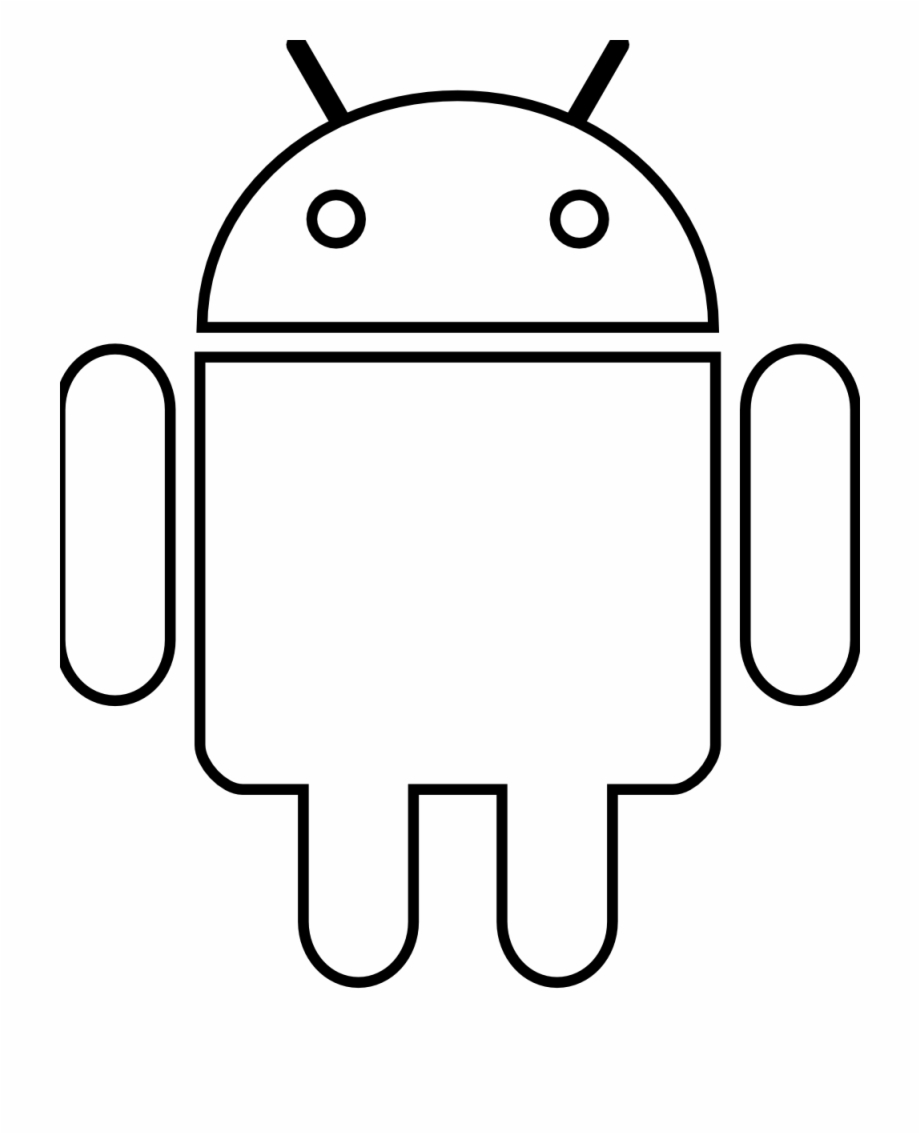 Android Robot Black White Line Art 999Px 44.