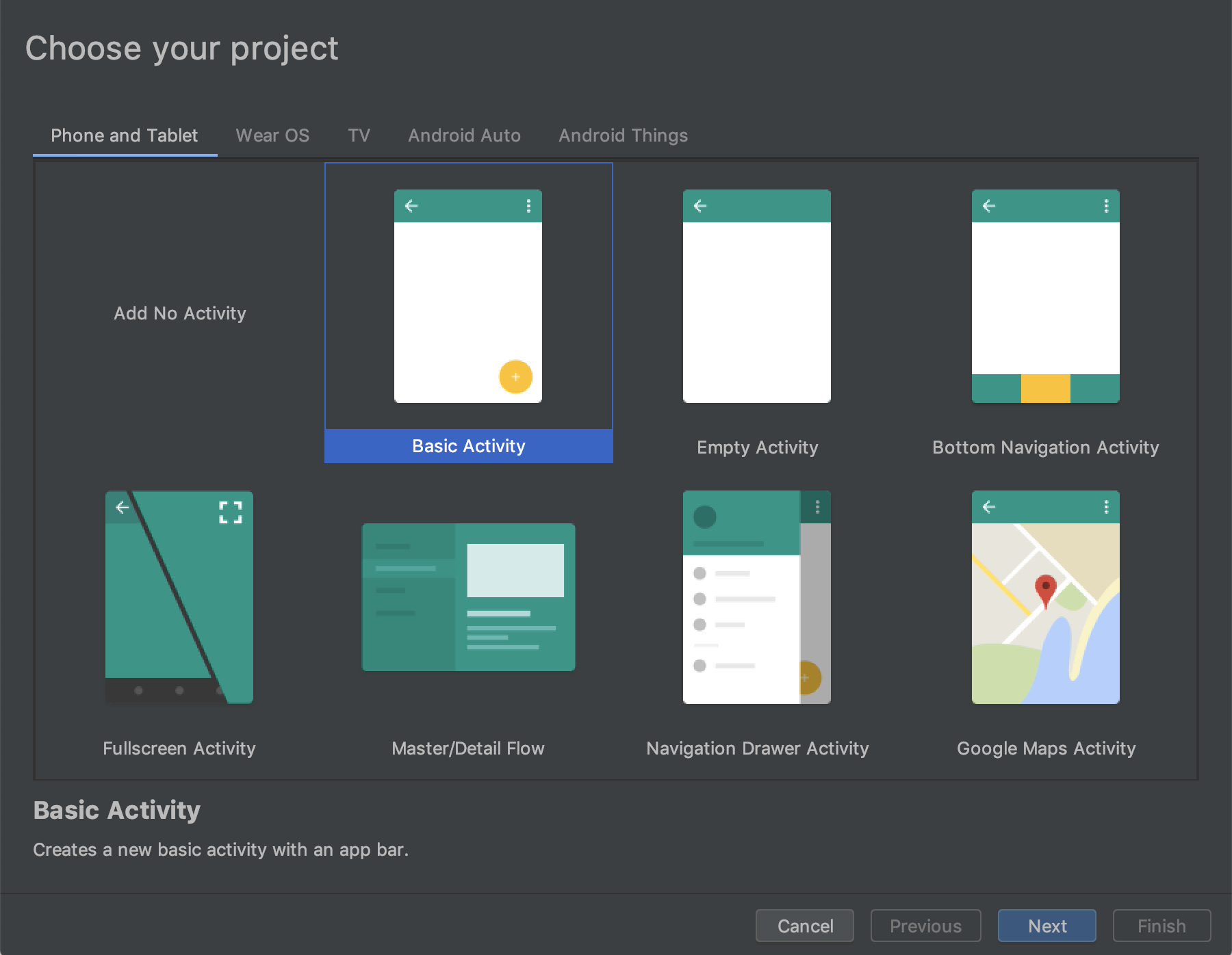 Create a project.