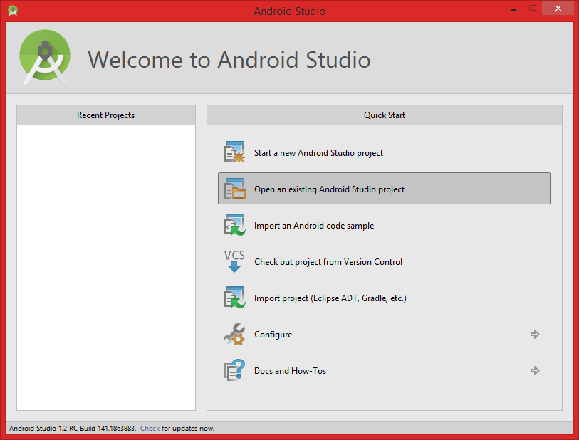 Getting Started for Android Studio.
