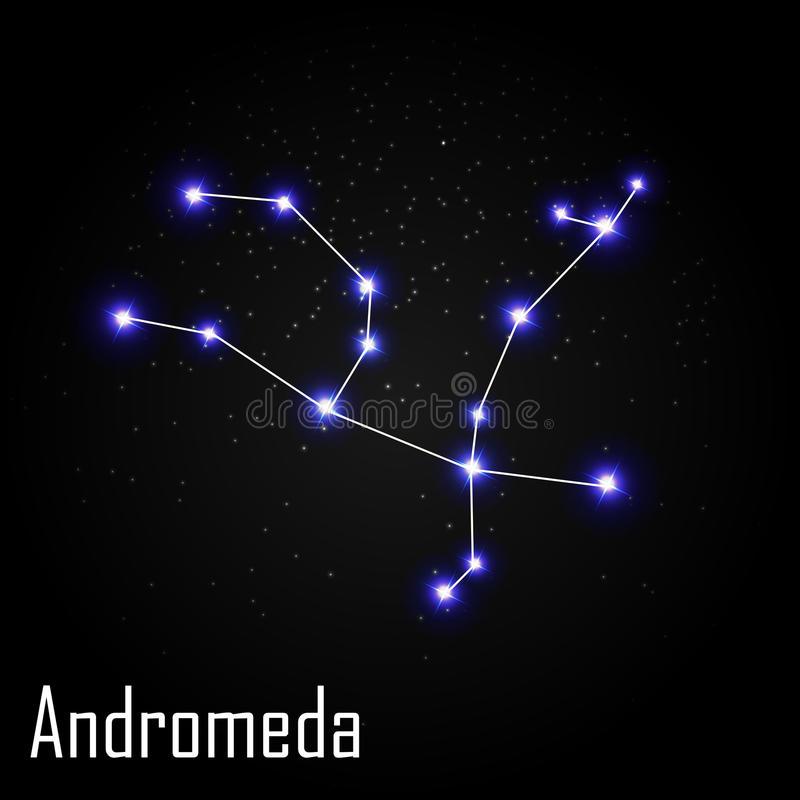 Andromeda Constellation Stock Illustrations.
