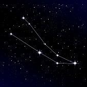 Andromeda Constellation Vector Illustration Stock.