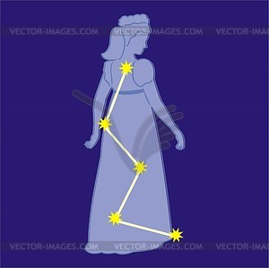 Constellation Cassiopeia.