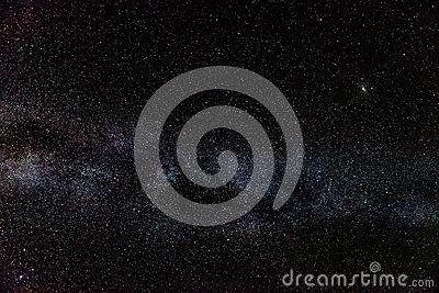 Andromeda Galaxy & Milky Way Stock Photo.