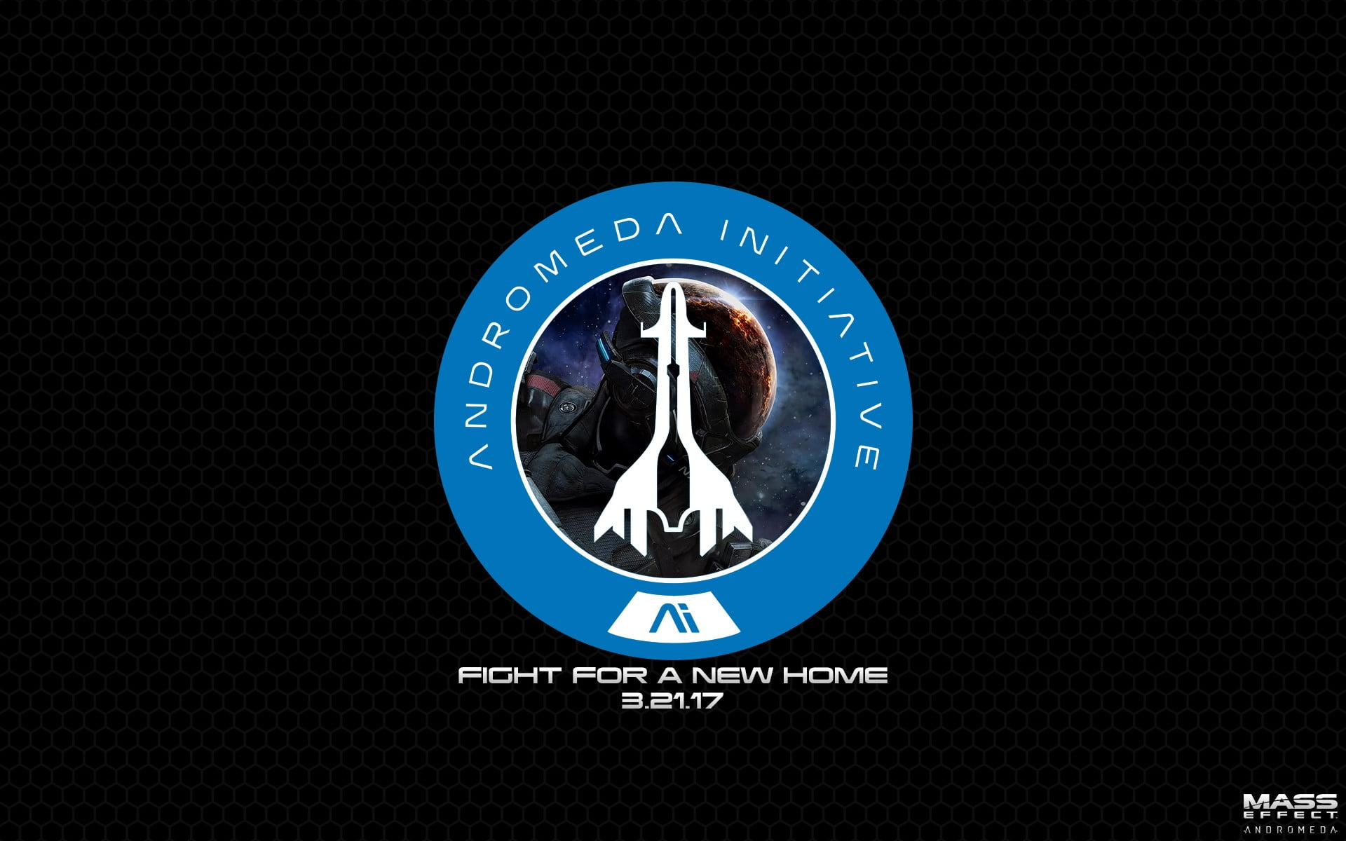 Andromeda Initiative logo, Mass Effect, Mass Effect.