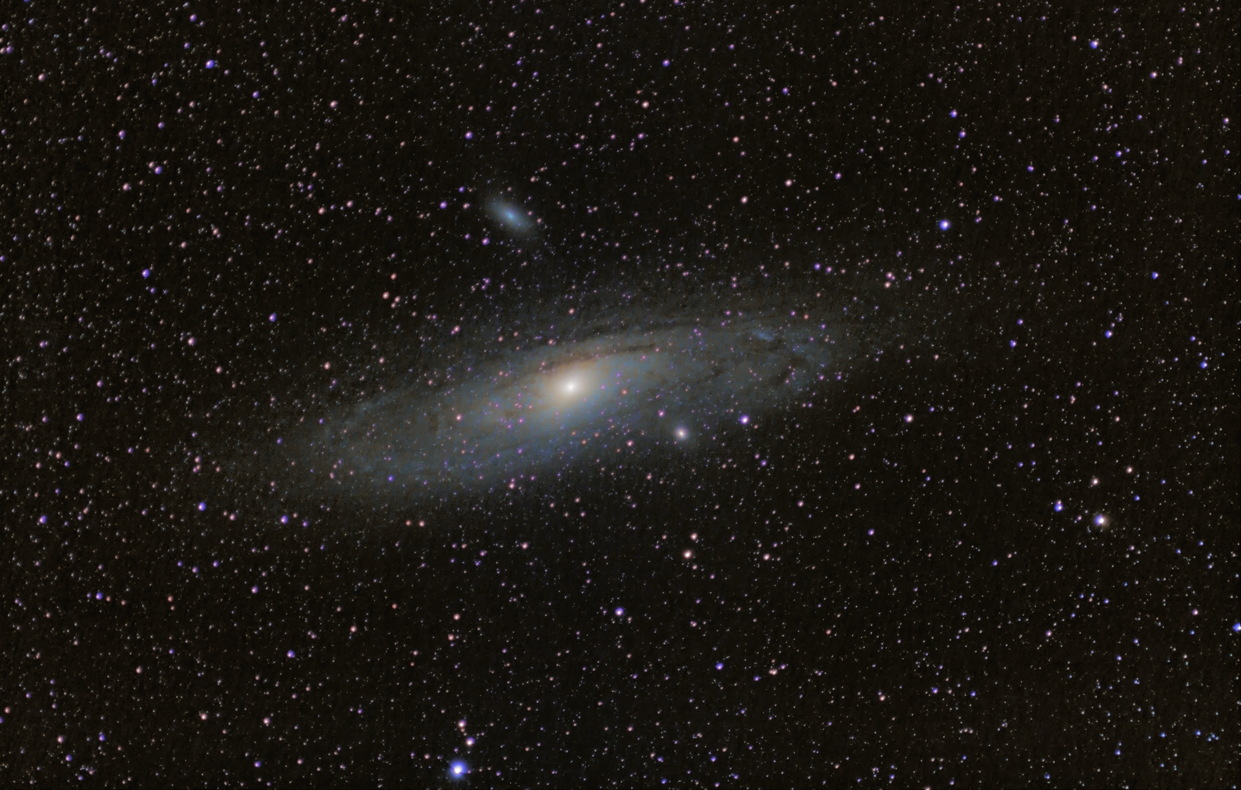 M32 Andromeda Galaxy Wide Field.