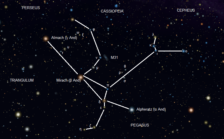 The Andromeda Constellation.