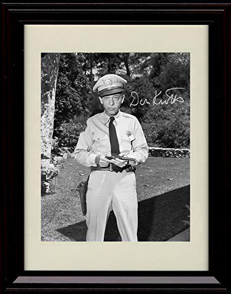 Amazon.com: Framed Barney Fife Autograph Replica Print.