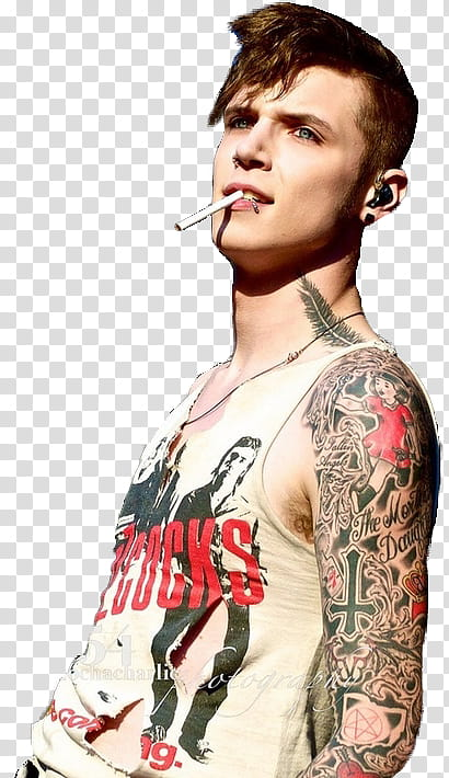 Andy Biersack , transparent background PNG clipart.