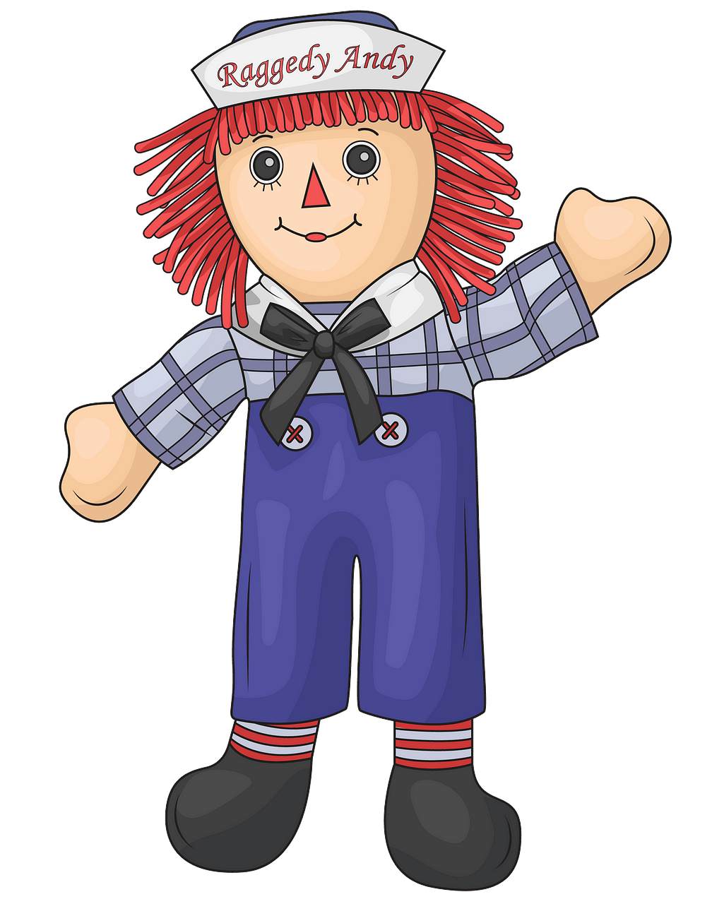 Raggedy Andy clipart. Free download..
