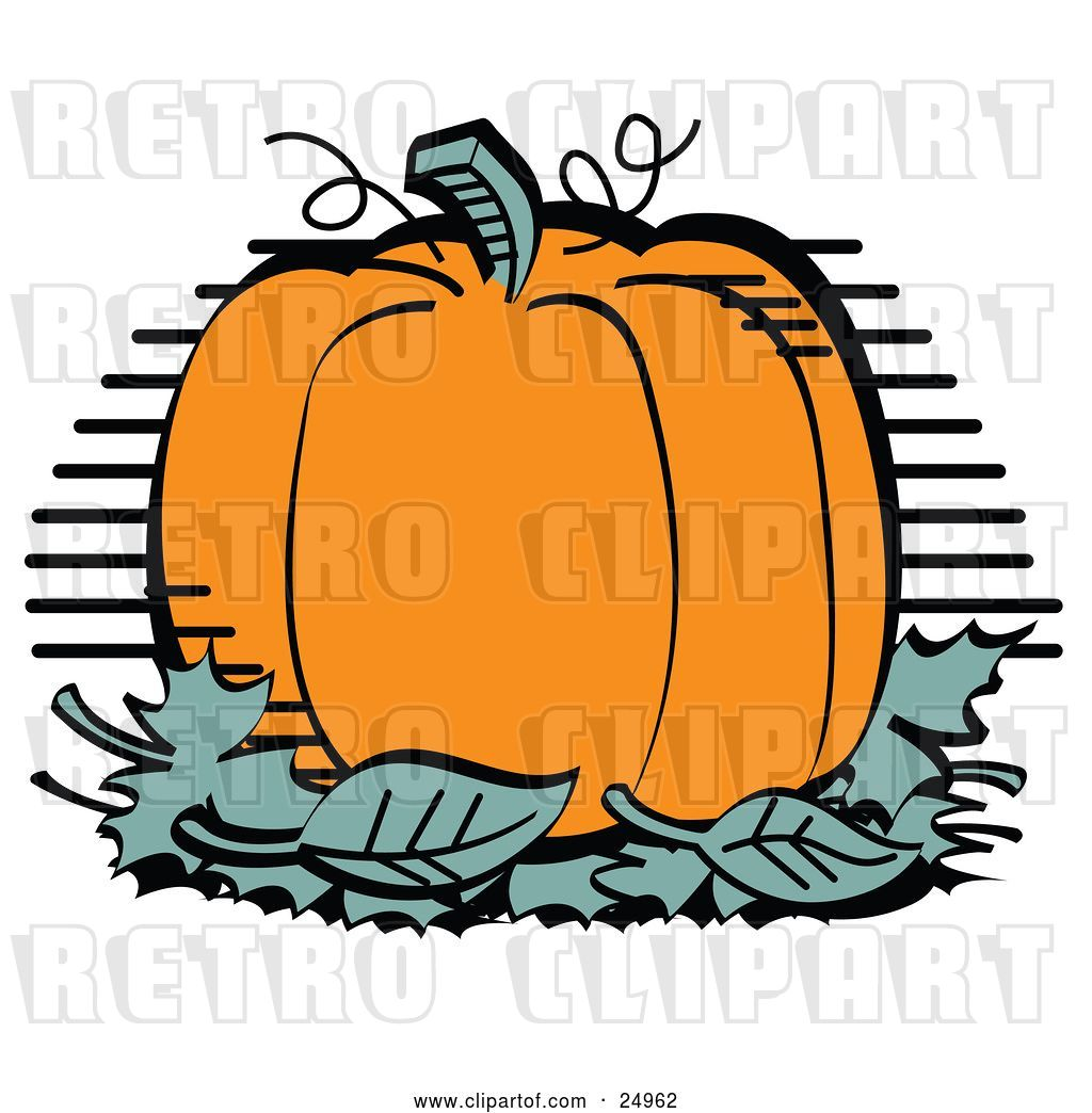 Vector Clip Art of Retro Plump and Round Orange Halloween or.