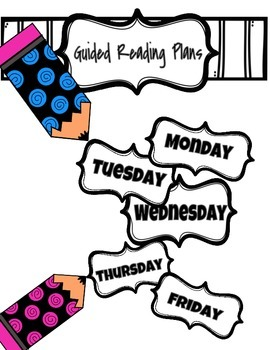Guided Reading Lesson Plans and Anecdotal Records.