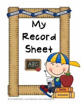 Class Record Clipart.