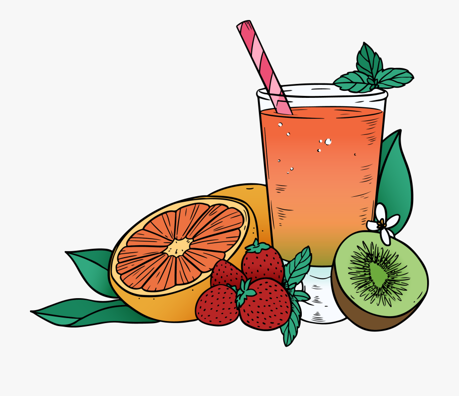 Juice Clipart Mixed Fruit.